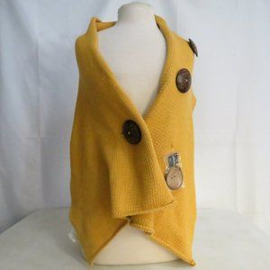 """Creative Co-Op 59""""L Cotton Knit Scarf Yellow NWT"""